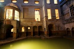 Roman Baths Royalty Free Stock Photography