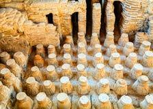 Roman baths. Roman bath floor in the city of Beit She'an in Israel Stock Image