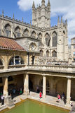Roman Baths and Abbey Royalty Free Stock Image
