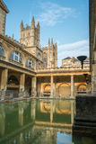 Roman Baths and Abbey Royalty Free Stock Photos