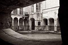 Roman Baths Alcove dans la ville de Bath Royaume-Uni Photographie stock libre de droits