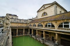 Roman Baths ancient spa, Bath, UK Stock Photos