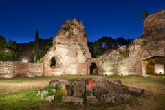 Roman Baths anziano di Odessos, Varna, Bulgaria Fotografia Stock