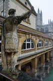 Roman Baths in Bad, Somerset, Engeland Stock Foto