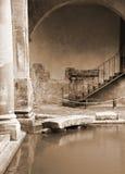 Roman Baths, Bath. Roman baths at Bath, Somerset, UK Stock Image