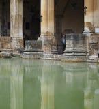 Roman Baths in Bath. BATH, UK - CIRCA SEPTEMBER 2016: Roman Baths ancient spa Royalty Free Stock Photo