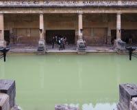 Roman Baths in Bath. BATH, UK - CIRCA SEPTEMBER 2016: Roman Baths ancient spa Royalty Free Stock Image