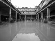 Roman Baths in Bath in black and white. BATH, UK - CIRCA SEPTEMBER 2016: Roman Baths ancient spa in black and white Stock Photos