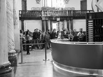 Roman Baths in Bath in black and white. BATH, UK - CIRCA SEPTEMBER 2016: Roman Baths ancient spa in black and white Stock Images