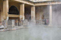 Roman baths in Bath, England Stock Photos