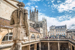 Roman Baths in Bath in England Stock Images