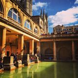 Roman baths in Bath Royalty Free Stock Photos
