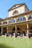 Roman Baths of Bath, England. Water, Architecture, Ancient, Monument, clear sky, Arches, Water, Baths Royalty Free Stock Photo
