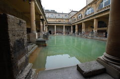 Roman Baths at Bath. The Roman Bath house museum in Bath, Aquae Sulis, Somerset Stock Photography