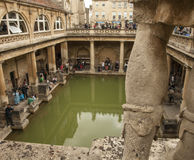 The Roman Baths, Bath - a statue. Royalty Free Stock Images
