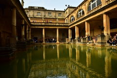 Roman baths in Bath Stock Image