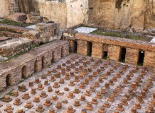 Roman Baths, Beiroet Van de binnenstad royalty-vrije stock afbeelding