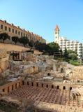 Roman Baths, Beyrouth du centre Photos libres de droits