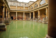 Roman Baths in Britain Stock Photos