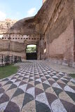 Roman Baths. Baths of Caracalla, built by Roman emperor Caracalla, Rome, Italy Royalty Free Stock Image
