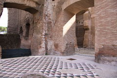 Roman Baths. Baths of Caracalla, built by Roman emperor Caracalla, Rome, Italy Royalty Free Stock Photo