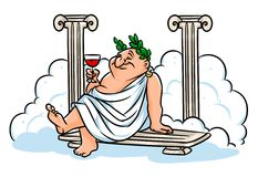 Roman Baths cartoon illustration Royalty Free Stock Photography