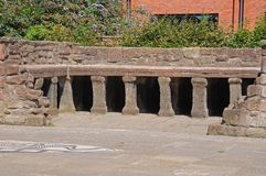 Roman baths, Chester. Royalty Free Stock Image