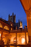 Roman Baths at Dusk Royalty Free Stock Photography