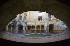 The Roman Baths, England. The Roman Baths in the city of Bath, England Royalty Free Stock Images