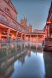 Roman baths in HDR Stock Photos