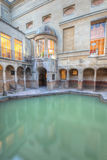 Roman baths and hot spring in. Ancient roman spa at bath England Stock Images