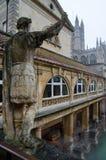 Roman Baths i badet, Somerset, England arkivfoto