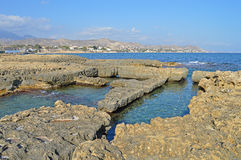 Roman Baths In The Sea Photos libres de droits