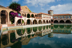 Roman baths of the Spanish spa resort Stock Image