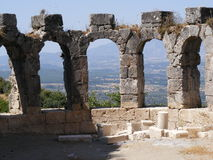 Roman Baths, Tlos. View of Xanthos Valley in Turkey through the windows of the Roman Baths Stock Images