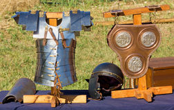Roman Battle Equipment antigo Fotos de Stock