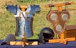 Roman Battle Equipment antiguo Fotos de archivo