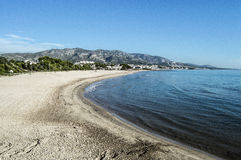Roman Beach alcocebre Stock Photo
