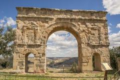 Roman boog in Medinaceli, Soria, Castilla Leon, Spanje stock fotografie