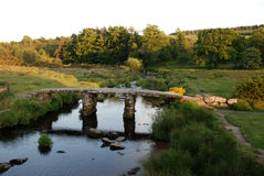 Roman bridge. A Rome broad bridge in England Royalty Free Stock Images