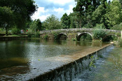 Roman bridge. Old roman bridge Stock Images