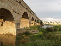 Roman Bridge. In Merida Royalty Free Stock Images