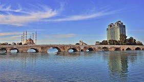 Roman bridge in Adana stock photography