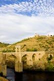 Roman bridge, Alcantara. Roman bridge in Alcantara, Caceres Province, Extremadura, Spain Royalty Free Stock Photography