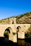 Roman bridge in Alcantara Royalty Free Stock Photo