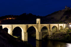 Roman bridge, Alcantara Royalty Free Stock Photography