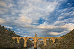 Roman bridge of Alcantara Royalty Free Stock Photos