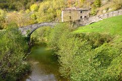 Roman bridge Royalty Free Stock Photo