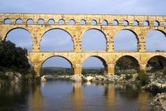 Roman bridge and aqueduct Stock Photography