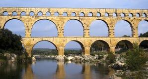 Roman bridge and aqueduct Royalty Free Stock Photo